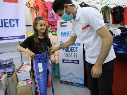 Baju Lebaran Adik- Adik di Palestina