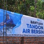 Bangun Bak Penampung Air Bersih di Lereng Gunung Penanggungan
