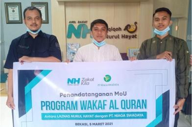 MOU Program Wakaf Quran Antara PT. Niaga Swadaya dan Nurul Hayat