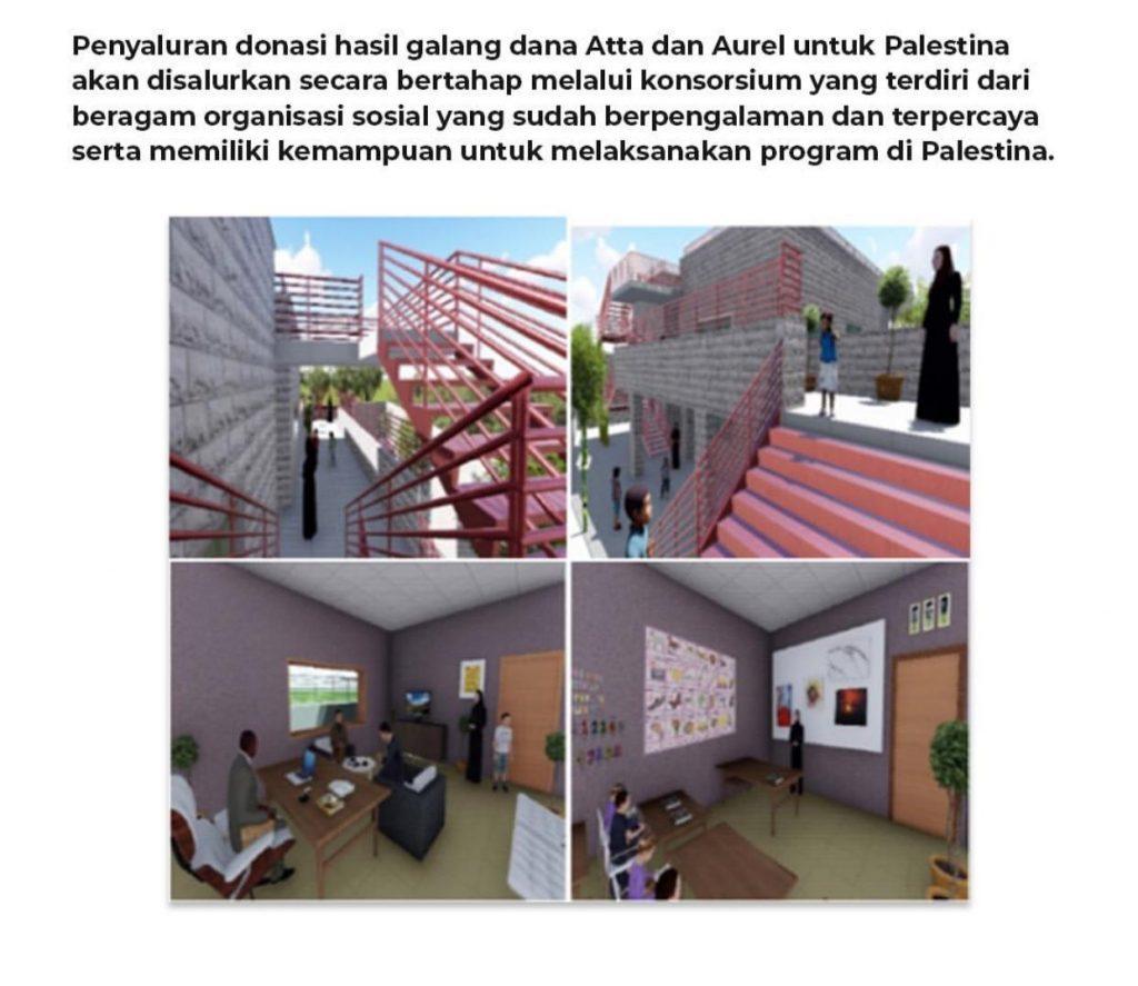 Atta Halilintar untuk Sekolah Indonesia di Palestina
